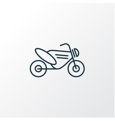 motor bike icon line symbol premium quality vector image