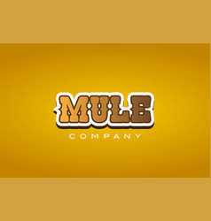 Mule western style word text logo design icon vector