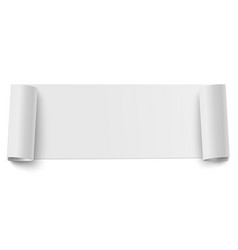 oblong horizontal roll of white sticky paper vector image