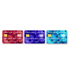 pattern credit card in abstract style stock vector image