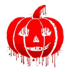 Pumpkin blood vector image vector image