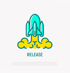 release thin line icon vector image