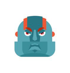 robot angry emoji cyborg evil emotions avatar vector image