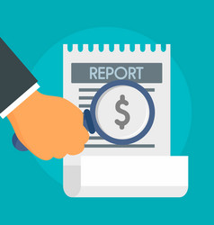 Salary report concept background flat style vector