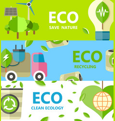 save nature recycling and clean ecology poster vector image