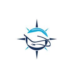 Scholarship logo design template vector