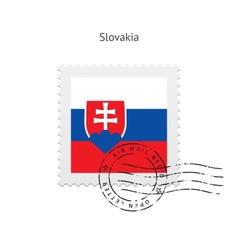 Slovakia Flag Postage Stamp vector