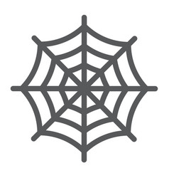 spider web line icon halloween and decoration vector image