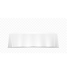 Table with tablecloth art banner white background vector