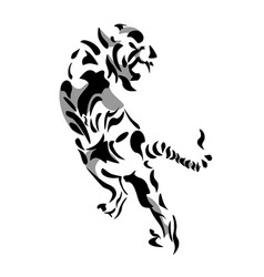 Tiger black and white vector