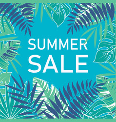 tropical summer sale poster vector image