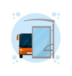 Urban bus service vector