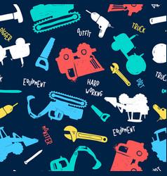 vehicles print design seamless pattern vector image