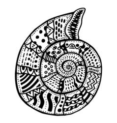 Zentangle stylized shell vector
