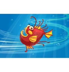 A scary fish vector image