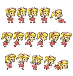 Candy Girl Game Sprites vector image vector image