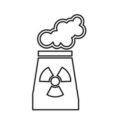 chimney nuclear plant isolated icon vector image