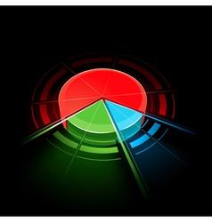 colorful circular design vector image