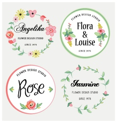 Flowers design elements vector image vector image