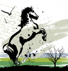 horse design vector image
