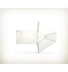 Origami arrow vector image vector image