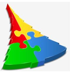 puzzle tree vector image vector image