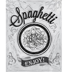 Spaghetti Poster coal vector image vector image