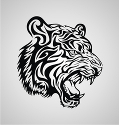 Tiger Tribal Design vector image