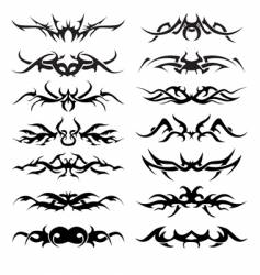 tribal tattoo pack vector image vector image