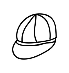 cap drawing isolated icon design vector image vector image
