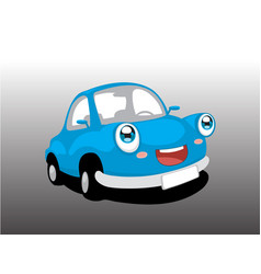 funny blue car vector image
