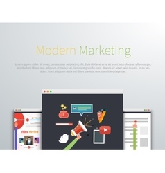 Modern Marketing Web Page Design vector image