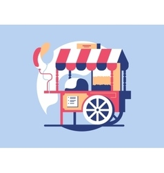 Trolley with popcorn vector image