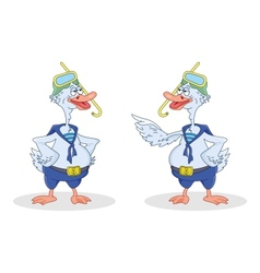 Two geese divers talk vector image vector image