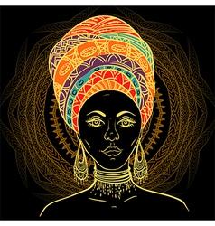 beautiful african woman in turban vector image vector image
