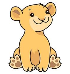 cartoon lion baby vector image vector image