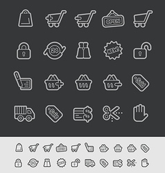 E-Shopping Icons vector image vector image