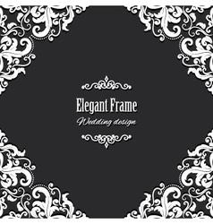 Filigree square frame vector image vector image