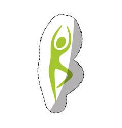 green person dancing icon vector image vector image