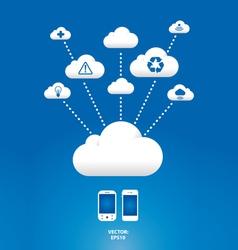 cloud graph vector image vector image