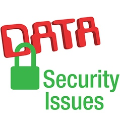 Data security issues secure lock vector image vector image