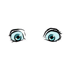 funny cartoon eyes vector image