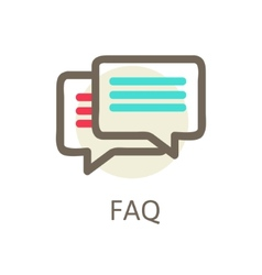 Icons for faq support contact vector image