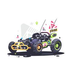 racing car buggy vector image