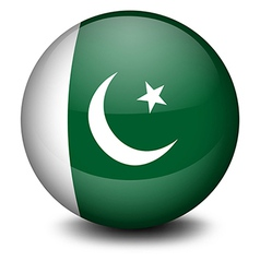 A ball with the flag of Pakistan vector image