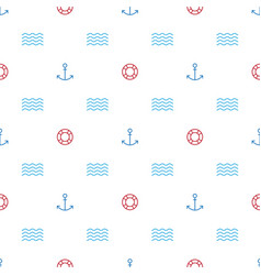 a graphic endless pattern with marine theme vector image