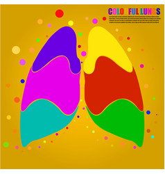 Abstract human lung for your design vector