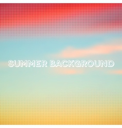 Abstract summer background with halftone overlay vector image