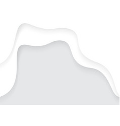 abstract white paper cut curve overlap with grey vector image