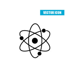 Atom icon flat style isolated on white background vector